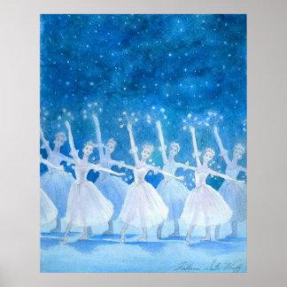 Dance of the Snowflakes Art Print