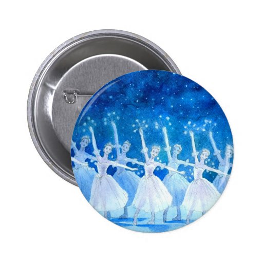 Dance of the Snowflakes Button (customizable)