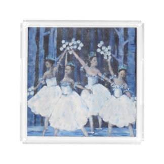 Dance of the snowflakes I Nutcracker Ballet Acrylic Tray