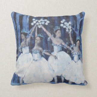 Dance of the snowflakes I Nutcracker Ballet Throw Pillow