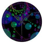 Dance of the Spheres II – Abstract Cosmic Violet Wallclocks