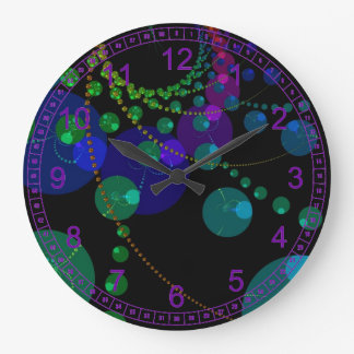 Dance of the Spheres II – Abstract Cosmic Violet Wallclocks