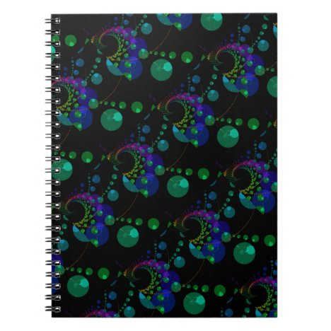 Dance of the Spheres II, Cosmic Violet and Teal Notebook
