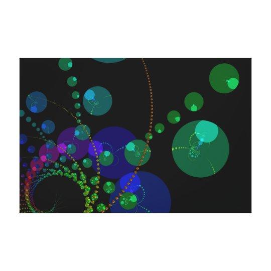Dance of the Spheres II – Cosmic Violet & Teal Canvas Print