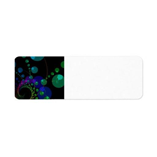 Dance of the Spheres II – Cosmic Violet & Teal ful Return Address Label