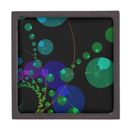 Dance of the Spheres II – Cosmic Violet & Teal Keepsake Box