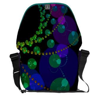 Dance of the Spheres II – Cosmic Violet Teal Large Messenger Bag