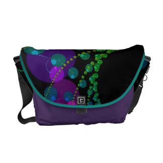 Dance of the Spheres II – Cosmic Violet & Teal Courier Bag