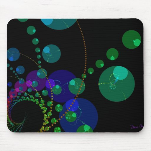Dance of the Spheres II – Cosmic Violet & Teal Mouse Pad