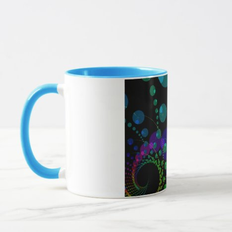 Dance of the Spheres II – Cosmic Violet & Teal Mug