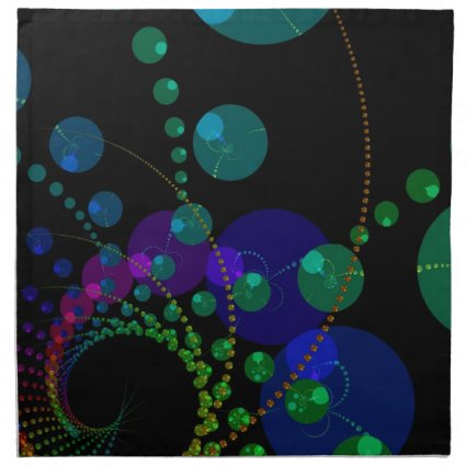 Dance of the Spheres II – Cosmic Violet & Teal Cloth Napkins