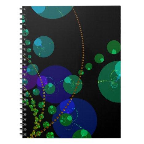 Dance of the Spheres II – Cosmic Violet & Teal Notebook