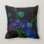 Dance of the Spheres II – Cosmic Violet & Teal Throw Pillow