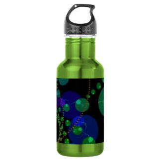 Dance of the Spheres II – Cosmic Violet & Teal Water Bottle