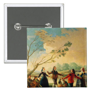 Dance on the Banks of the River Manzanares, 1777 Pinback Button