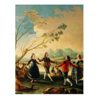 Dance on the Banks of the River Manzanares, 1777 Postcard