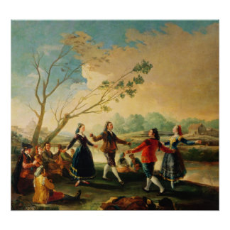 Dance on the Banks of the River Manzanares, 1777 Poster