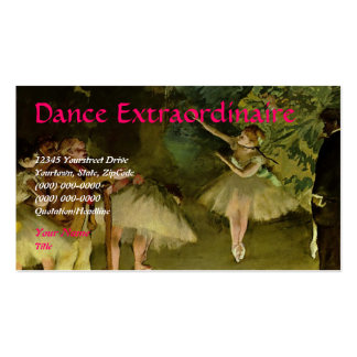 DANCE or BALLET Business Cards
