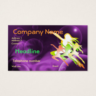 Dance or fitness business card with 2011 Calender