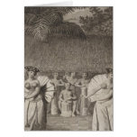 Dance, Otaheite, Tahiti Greeting Card