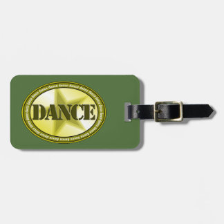 Dance Oval - Green Luggage Tag