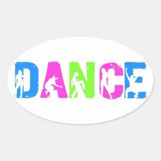 DANCE OVAL STICKER
