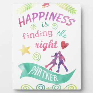 Dance Partner Ice Skate Design Plaque