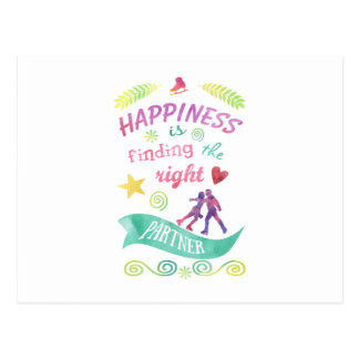 Dance Partner Ice Skate Design Postcard