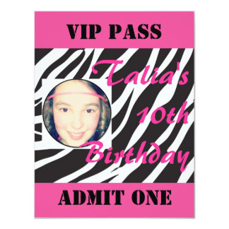 Dance Party Birthday Invitation - VIP Event Pass