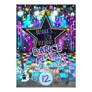 DANCE PARTY Birthday Musical Rock Star Invitation