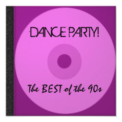 Dance Party CD Invite