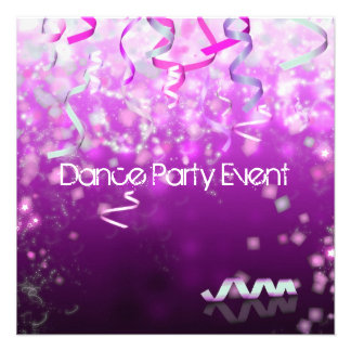 Dance Party Event Streamers Custom Announcements