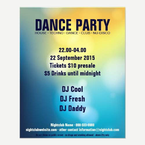 Dance Party Flyer No.1