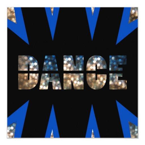 """Dance Party Invitation 5.25"""" Square Invitation Card"""