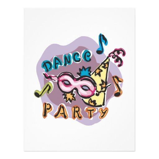 Dance Party Invitation Custom Flyer