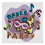 Dance Party Invitation Posters