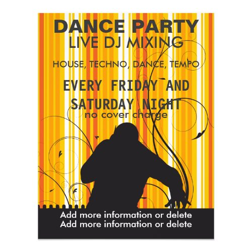 Dance Party Live DJ Music Flyer flyer