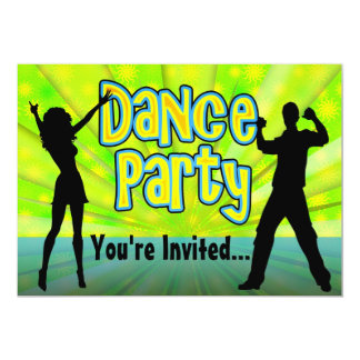 Dance Party, Neon Green/Black Card