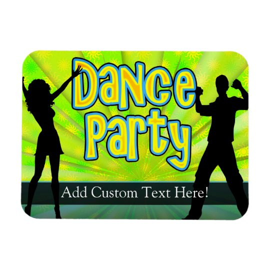 Dance Party, Neon Green/Black Magnet
