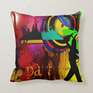 Dance Party Scene Pillow