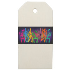 Dance Party Wooden Gift Tags