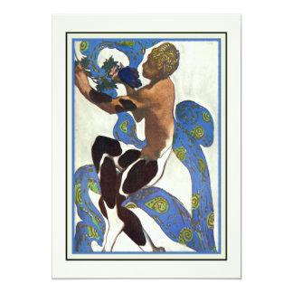 Dance Performance Ballet Recital Modern Art 5x7 Paper Invitation Card