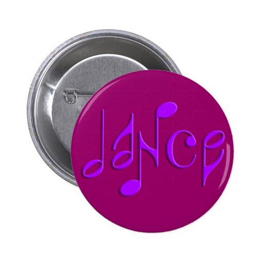 dance pinback button