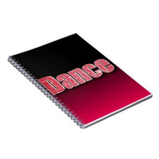 Dance Pink Glitter Notebook