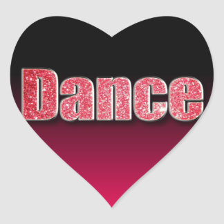 Dance Pink Glitter Stickers