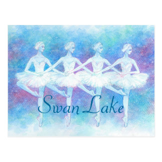 Dance post card of swan of four feathers