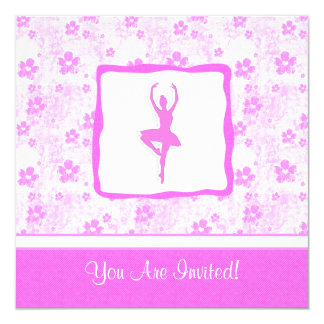 Dance Pretty in Pink Floral Party Invitation