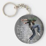Dance Quote Basic Round Button Keychain