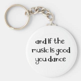 Dance quote keychain