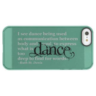 Dance Quote Permafrost® iPhone SE/5/5s Case